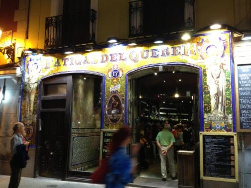 Restaurant in Madrid, Spain called Fatigas Del Querer