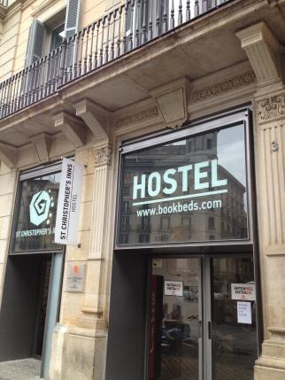 St. Christopher's hostel in Barcelona, Spain